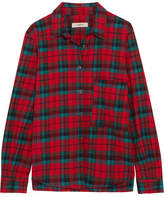 Etoile Isabel Marant Cazora Plaid Brushed-cotton Shirt - Red