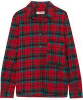 Etoile Isabel Marant Cazora Plaid Brushed-cotton Shirt