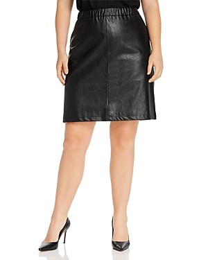 Junarose Plus Savannah Faux-Leather Skirt