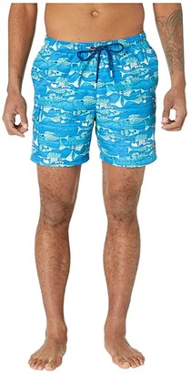 Tommy Bahama Naples Blue Fish Bay (Turkish Sea) Men's Swimwear