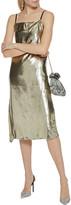 Thumbnail for your product : Helmut Lang Draped Metallic Velvet Slip Dress