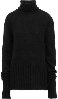 Ann Demeulemeester Alpaca, Mohair And Silk-blend Turtleneck Sweater