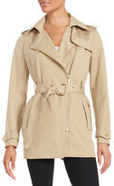 MICHAEL Michael Kors Asymmetrical Zip Trench Coat