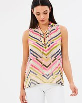 GUESS Trippy Lace Up Shirt