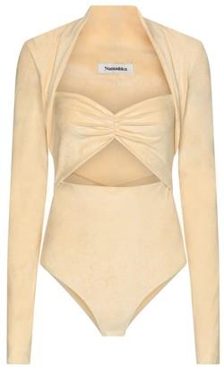 Nanushka Heidi stretch-velvet bodysuit