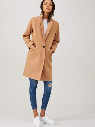 Very Petite Single Breasted Coat - Camel