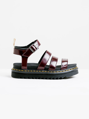 Dr. Martens Womens V Blaire Chunk 3 Strap Sandal in Deep Red