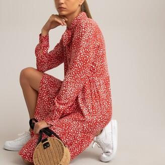 La Redoute Collections A-Line Mini Dress in Polka Dot Print