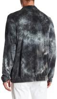 Topman Tie Dye Quarter Zip Sweater