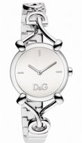 Dolce & Gabbana Women's DW0681 Flock Silver Case Silver Dial Spaghetti Bracelet Watch