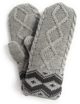 Muk Luks Women's Braided And Diamond Cable Mittens