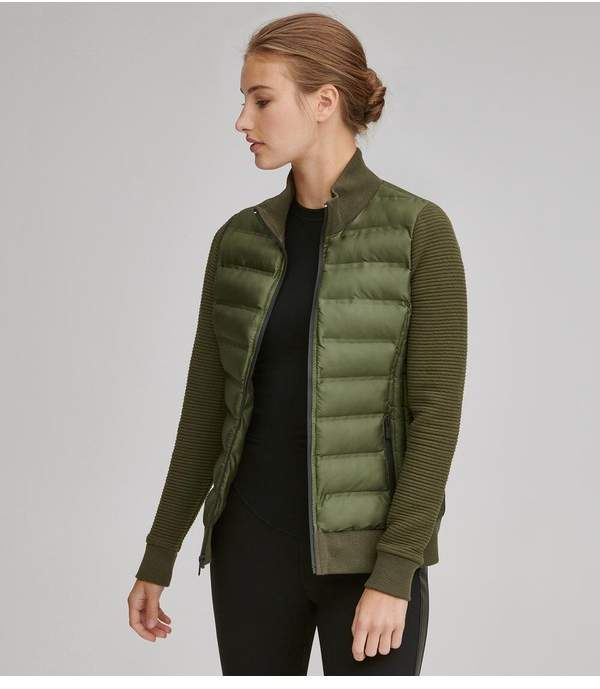 Aubree Puffer With Knit Sleeves