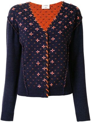 Onefifteen Embroidered Knit Cardigan