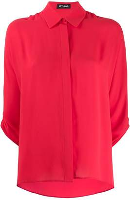 Styland ruched sleeve shirt