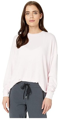 Alo Soho Pullover (Soft Pink Heather) Women's Clothing