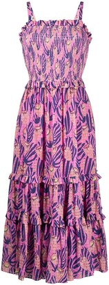 Temperley London Reef print strappy dress