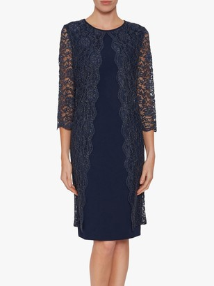 Gina Bacconi Dailyn Floral Lace Dress, Spring Navy