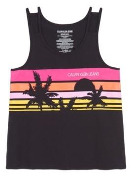 Calvin Klein Big Girls Strap Tank Top