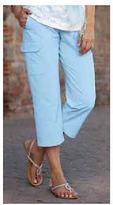 Jockey Womens Drawstring Cargo Capri Career Wear Capri Pants polyester