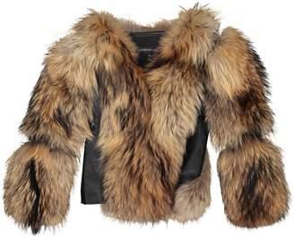 Adrienne Landau Beige Wool Jackets