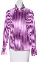 Bogner Stripe Button-Up Top w/ Tags