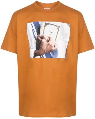 Supreme bible print T-shirt