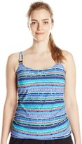 Christina Women's Bright Amazon D-Cup Long Tankini