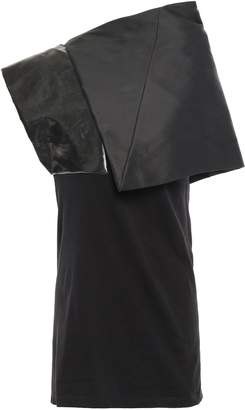 Rick Owens Uranian Shell, Coated-twill And Cotton-jersey Top