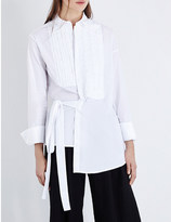 A.F.Vandevorst Cocktail asymmetric stretch-cotton shirt