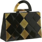 Global Elements Criss Cross Shell/Horn Handbag