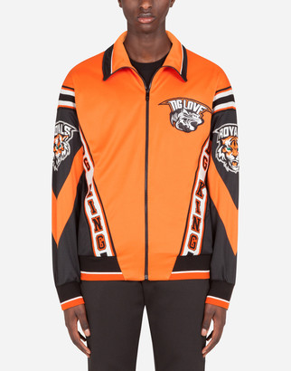 Dolce & Gabbana Zip-Up Sweatshirt With Patch