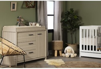 South Shore Lensky Removable Top and Integrated Light Changing Table Dresser