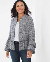 Chico's Ruffle Tweed Jacket