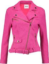 Moschino Cotton-blend bouclé biker jacket