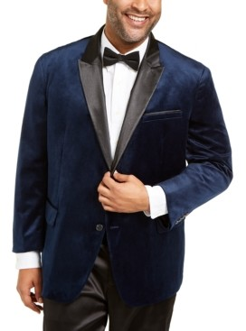 INC International Concepts Inc Men's Big & Tall Max Velvet Blazer, Created for Macy's