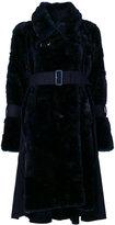 Sacai faux fur coat - women - Acrylic/Modacrylic/Nylon/Wool - 1