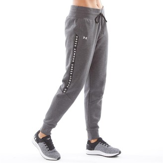 Under Armour Womens Taped Fleece Pants Black