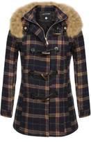 ACEVOG Women's Winter Coat Hood Parka Overcoat Long Jacket Outwear Top
