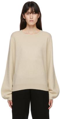 Frenckenberger Off-White Cashmere Mini R-Neck Sweater