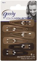 Goody Colour CollectionTM 6-Pack Snap Clips in Brunette