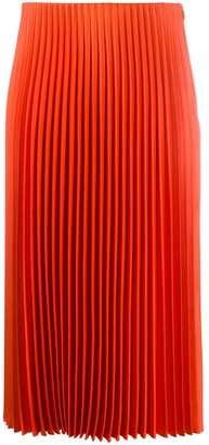 Theory Pleated Straight Skirt