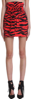 ATTICO Virgi Skirt In Red Cotton