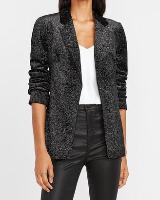 Express Metallic Velvet Tuxedo Jacket
