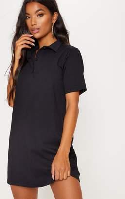 PrettyLittleThing Black Polo Shirt Dress