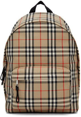 Burberry Beige Check Jett Backpack