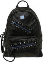 MCM Medium Rebel Tumbled Leather Backpack