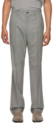 Maison Margiela Black Wool Houndstooth Trousers