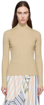 Acne Studios Beige Ribbed Turtleneck