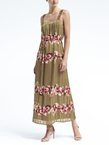 Banana Republic Floral Apron Maxi Dress