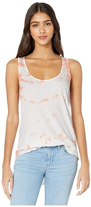 LAmade Friend Tank with Tie-Dye (Coral Pink) Women's Clothing